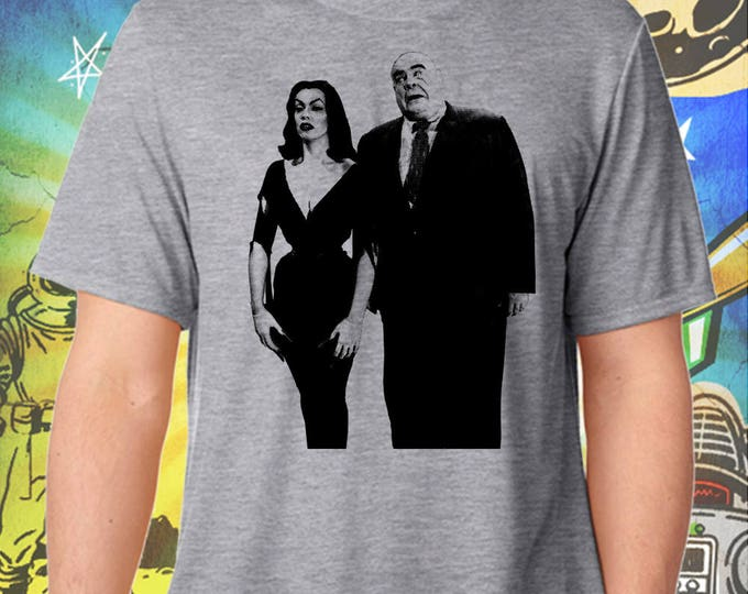 Classic 50s SciFi / Plan 9 from Outer Space / Vampire and Tor / Men's Gray Performance T-Shirt