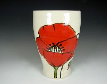 Ceramic Coffee Mug, Pottery Mug, tumbler, cup stoneware mug, red Mug, Tea mug, Unique mug, tea bowl