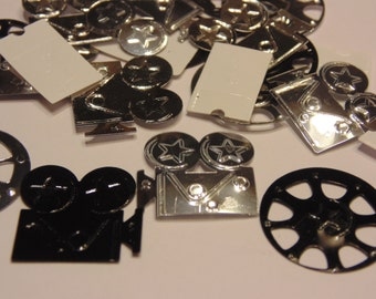 25 pieces movie buff confetti / sequins mix, 19-20 mm (11)