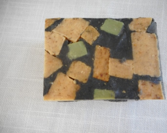 Camouflage Soap, home made hand milled