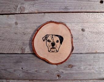 Rustic - dog coasters!