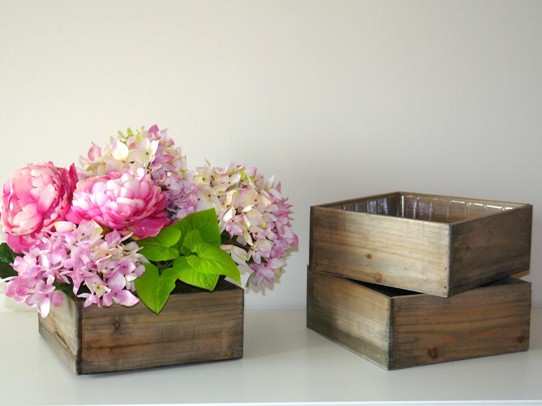 Wood box wooden boxes vase succulent planter wedding zoom junglespirit Images