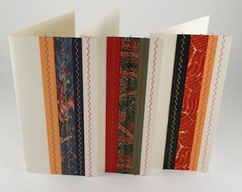 Set of 3 cards, greeting cards # 2 -  cards for all occasions - Text-free cards - original cards - Various decorated papers