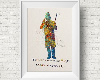 Willy Wonka Quote ART PRINT illustration, Movie, Charlie and the Chocolate Factory, Wall Art, Home Decor