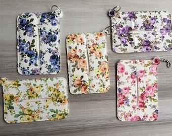 Keychain Tissue Holder, Travel Tissue Case, Floral Tissue Travel Case, Vinyl Tissue, Baby Shower Gifts, Kleenex Travel Tissue Holder Cute
