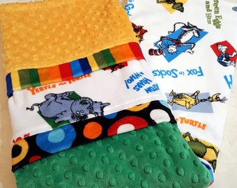 Dr. Seuss Theme Characters Minky Baby/Toddler Blanket