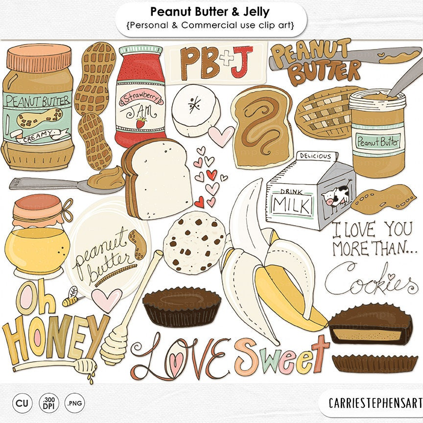 Peanut Butter Jelly Clip Art Sweet Treat Chocolate And