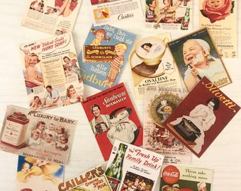 Vintage Ad Stickers Pack