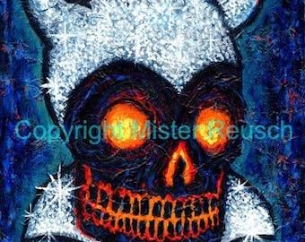Skeleton Devil 6 Signed Art Print by Mister Reusch