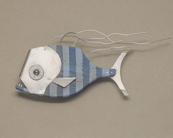 Funky Pirahna Fish Wall Art Sculpture