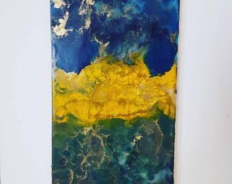 Encaustic painting in canvas