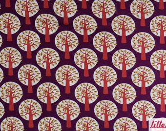 TREES on PURPLE - ORGANIC Knit Fabric - Lillestoff