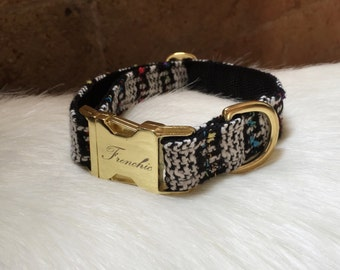 "Adjustable dog collar ""Chanel"""
