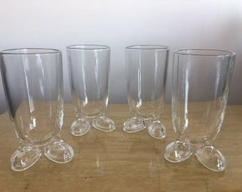 Glass shoe feet drinking glasses