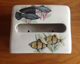 Vintage Fish Tissue Holder