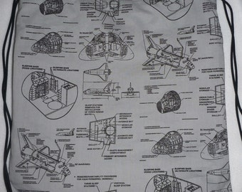 Space Shuttle Plans: Backpack/tote Custom Print