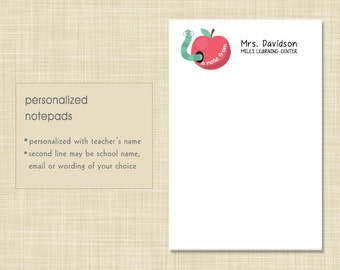 Teacher Notepad - Wise Worm - teacher gift