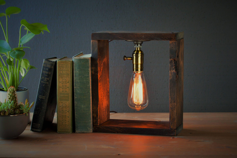 Industrial Box Lighting   Steampunk Lamp   Table Lamp   Edison Light    Vintage Light   Pipe Lamp   Bedside Lamp   Rustic Lighting