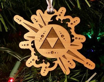 Legend of Zelda Ornament - Zelda Christmas Ornament - Holiday Decor - Gamer Gift - Zelda Gift - Triforce Ornament