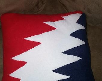 Grateful Dead, fleece pillow, handmade pillow