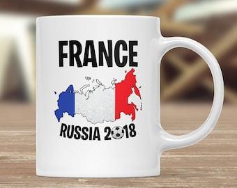 France 2018 Mug, France Football tasse, France café tasse, France Football équipe, France Mug, tasse, France, Football