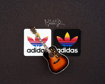 Noel Gallagher's Colorful Retro Adidas Stickers
