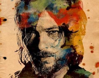 Daryl Watercolor Print