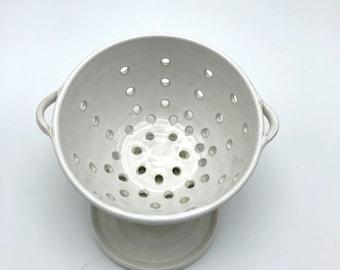 Handmade Ceramic Berry Bowl /Strainer / Colander