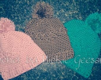 Crochet diamond slouch hat