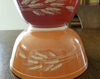 Pyrex Autumn Harvest Wheat Mixing Bowls
