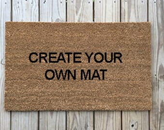 Custom Doormat : funny Doormats, Unique Doormats, Cute welcome mat, home and living, housewarming gifts, home décor, handmade, trendy