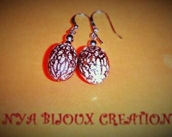 Royal Palm seed earrings