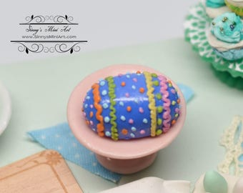 1:12 Dollhouse Miniature Easter Egg Cake/ Miniature Easter BD K1087