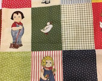 Paper Dolls Farm - by Sibling Arts for Myletex Fabrics - Pattern #895 - panel (12 Dolls)
