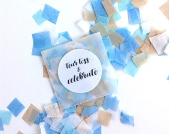 Wedding Confetti Envelopes, Party Confetti, Gender Reveal, Wedding Send Off, Confetti Toss,  20 Glassine Bags of Confetti, SOMETHING BLUE