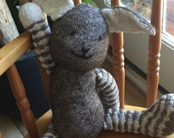 Hand knit Bunny Rabbit