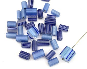 Sale! 35  furnace glass beads, 8mm to 11mm # PV004