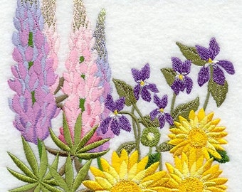 FLOWERS Of The Bible - FLOWER Of The GRASS - Machine Embroidery Quilt Block (AzEB)