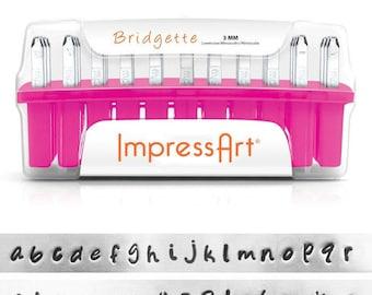 ImpressArt  3mm Bridgette Lower Case Alphabet  Stamp Set  (4952)/1