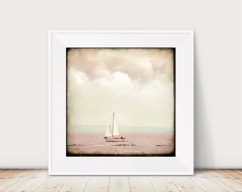 There's a Storm coming - Fine Art Print France Travel Seaside Photography Photo Sky Boat Sailing Weather Clouds