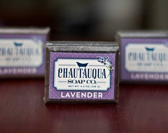 Lavender Bar Soap - Made with Organic Ingredients and Essential Oils