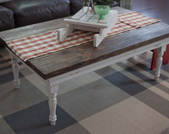 Rustic Coffee Table // Living Room Table // Farmhouse Table // Country Style