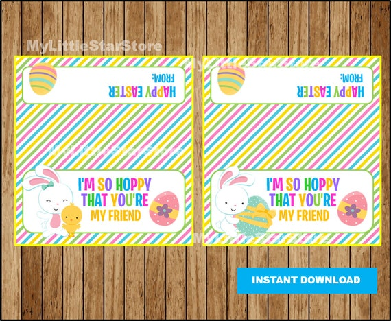Hoppy easter favor bags printable easter treat bags toppers negle Image collections