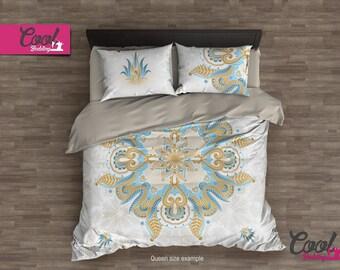 King Duvet Cover, Mandala Bedding, Comforter ON SALE