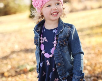 Warm Presents - Super Cute Kids Hat - Crochet Hat for Kids - Newborn Hat for Girls - Pink Sparkle