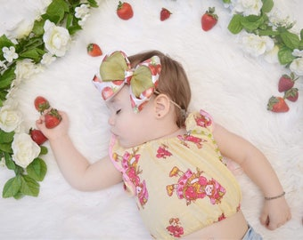 Strawberry Shortcake Inspired Crop Top