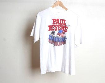 Vintage PAUL REVERE et les RAIDERS tour musique des années 60 70 s top rock américain bande vintage t-shirt