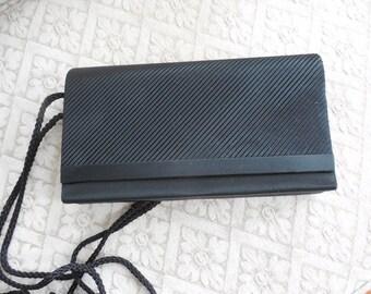 Vintage Buneo Black Clutch  Evening Bag  Handbag