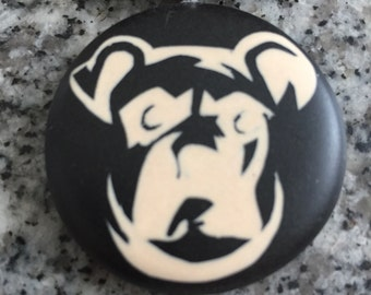 Boxer hand carved on a polymer clay black color background. Pendant comes with a FREE  necklace