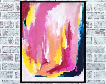 """Original Painting, Abstract Art, Wall Art, Room Decor, Affordable Art, Acrylic, Original Abstract Painting """"A Certain Kind Of Serenity"""""""